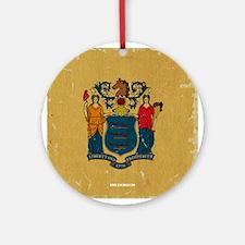 NJ Vintage Ornament (Round)