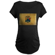 New Jersey State Flag VINTAGE Maternity T-Shirt