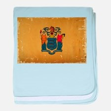New Jersey State Flag VINTAGE baby blanket