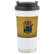 New Jersey State Flag VINTAGE Travel Mug