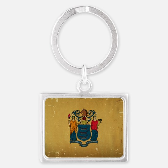 New Jersey State Flag VINTAGE Keychains