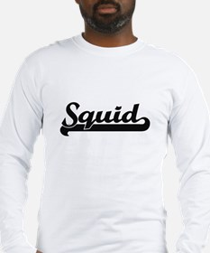 Squid Classic Retro Design Long Sleeve T-Shirt