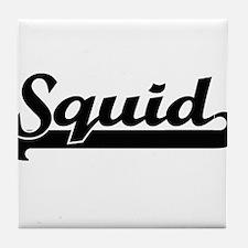 Squid Classic Retro Design Tile Coaster