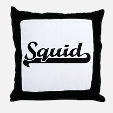 Squid Classic Retro Design Throw Pillow