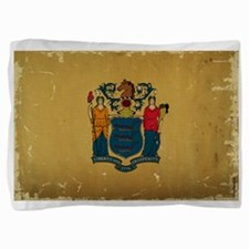 New Jersey State Flag VINTAGE Pillow Sham