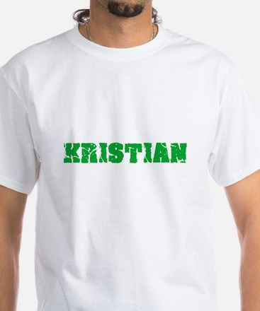 Kristian Name Weathered Green Design T-Shirt