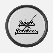 Sweet Potatoes Classic Retro Desi Large Wall Clock