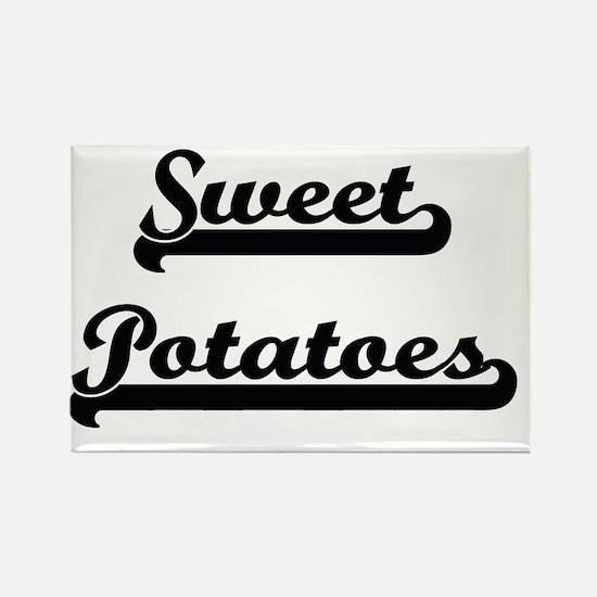 Sweet Potatoes Classic Retro Design Magnets