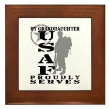Granddaughter Proudly Serves 2 - USAF Framed Tile