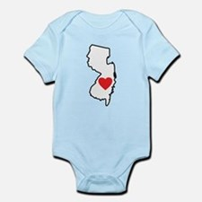 I Love New Jersey Infant Bodysuit