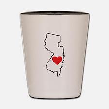 I Love New Jersey Shot Glass
