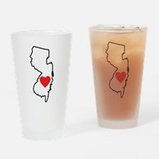 I Love New Jersey Drinking Glass