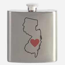 I Love New Jersey Flask