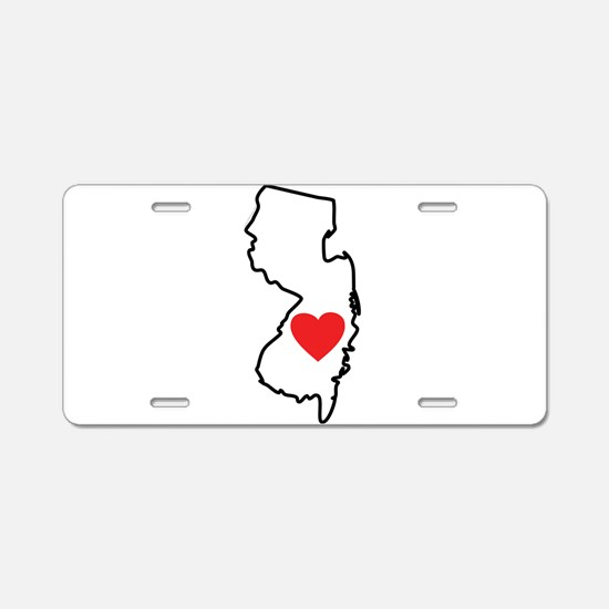 I Love New Jersey Aluminum License Plate