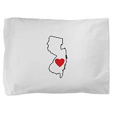 I Love New Jersey Pillow Sham