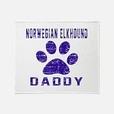 Norwegian Elkhound Daddy Designs Throw Blanket