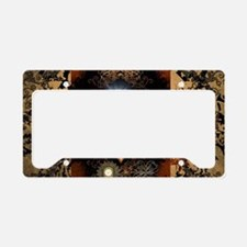 Steampunk, beautiful heart License Plate Holder