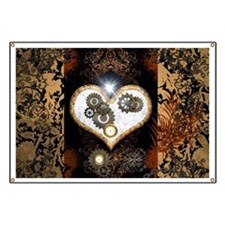 Steampunk, beautiful heart Banner
