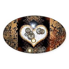 Steampunk, beautiful heart Decal