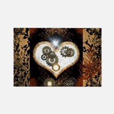 Steampunk, beautiful heart Magnets