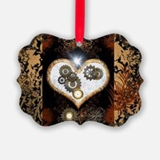 Steampunk, beautiful heart Ornament