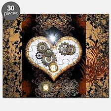 Steampunk, beautiful heart Puzzle