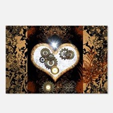 Steampunk, beautiful heart Postcards (Package of 8