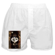 Steampunk, beautiful heart Boxer Shorts