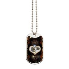 Steampunk, beautiful heart Dog Tags