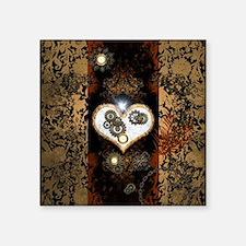 Steampunk, beautiful heart Sticker