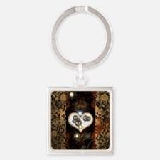 Steampunk, beautiful heart Keychains