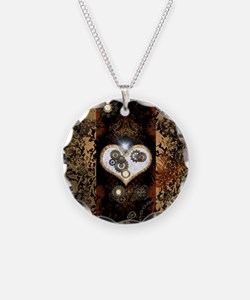 Steampunk, beautiful heart Necklace