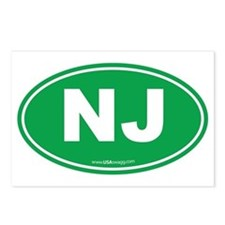 New Jersey NJ Euro Oval Postcards (Package of 8)