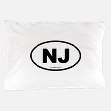New Jersey NJ Euro Oval Pillow Case