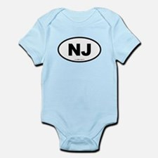 New Jersey NJ Euro Oval Infant Bodysuit