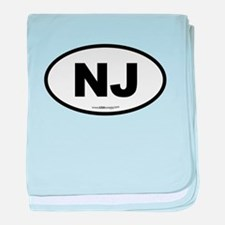 New Jersey NJ Euro Oval baby blanket