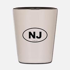 New Jersey NJ Euro Oval Shot Glass