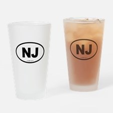 New Jersey NJ Euro Oval Drinking Glass