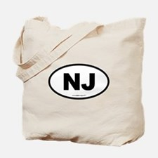 New Jersey NJ Euro Oval Tote Bag