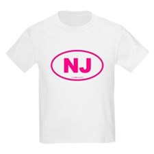 New Jersey NJ Euro Oval T-Shirt
