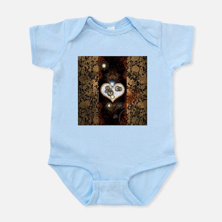 Steampunk, beautiful heart Body Suit