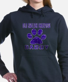 Old English Sheepdog Dad Women's Hooded Sweatshirt