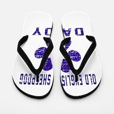Old English Sheepdog Daddy Designs Flip Flops