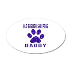 Old English Sheepdog Daddy D Wall Decal