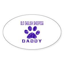 Old English Sheepdog Daddy Designs Decal