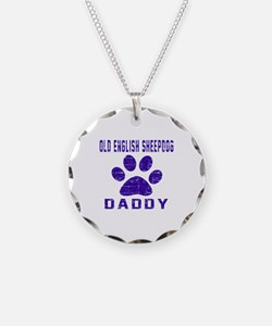 Old English Sheepdog Daddy D Necklace