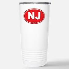 New Jersey NJ Euro Oval Stainless Steel Travel Mug