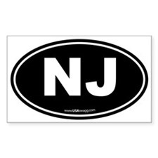 New Jersey NJ Euro Oval Decal