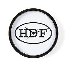 HDF Oval Wall Clock