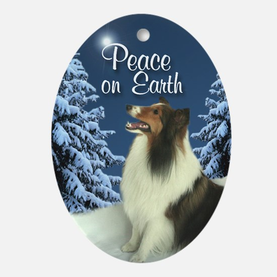 Peace Sheltie Ornament